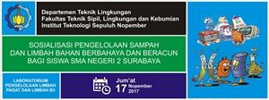 Sosialisasi Pengelolaan Sampah dan Limbah B3 Bagi Siswa SMAN 2 Surabaya