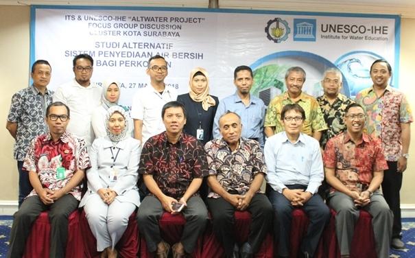 FGD ini diselenggarakan oleh ITS bekerjasama dengan UNESCO-IHE dalam rangkaian Alwater Project.