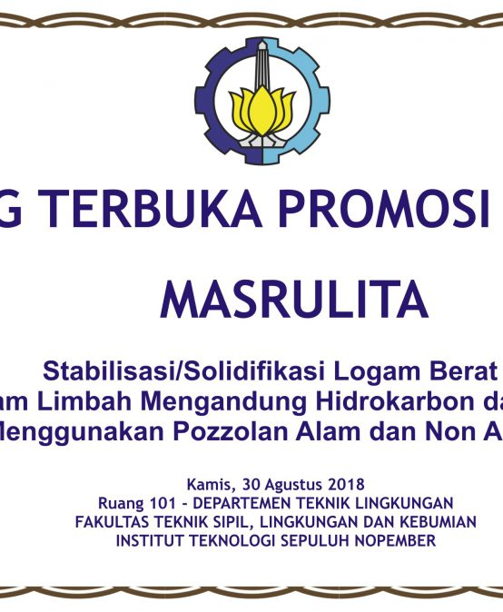 Sidang Terbuka Promosi Doktor a.n Masrulita