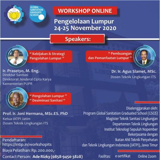 """Workshop online """"Pengelolaan Lumpur"""""""